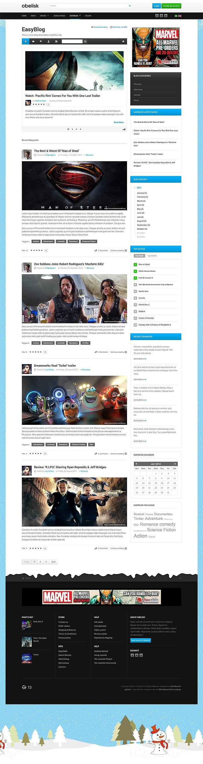 Three JoomlArt Responsive Templates with EasyBlog Styles - Joomla ...
