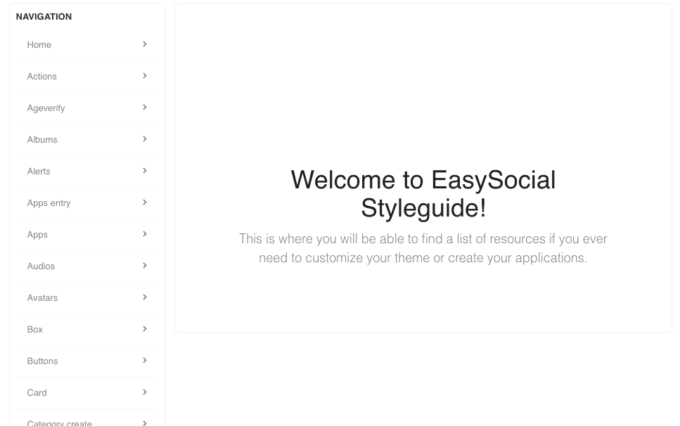 EasySocial Styleguides