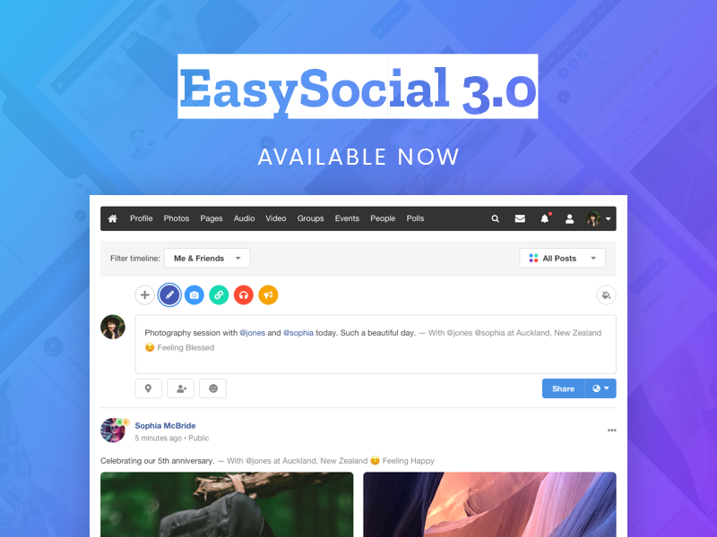 EasySocial 3.0 Stable Released