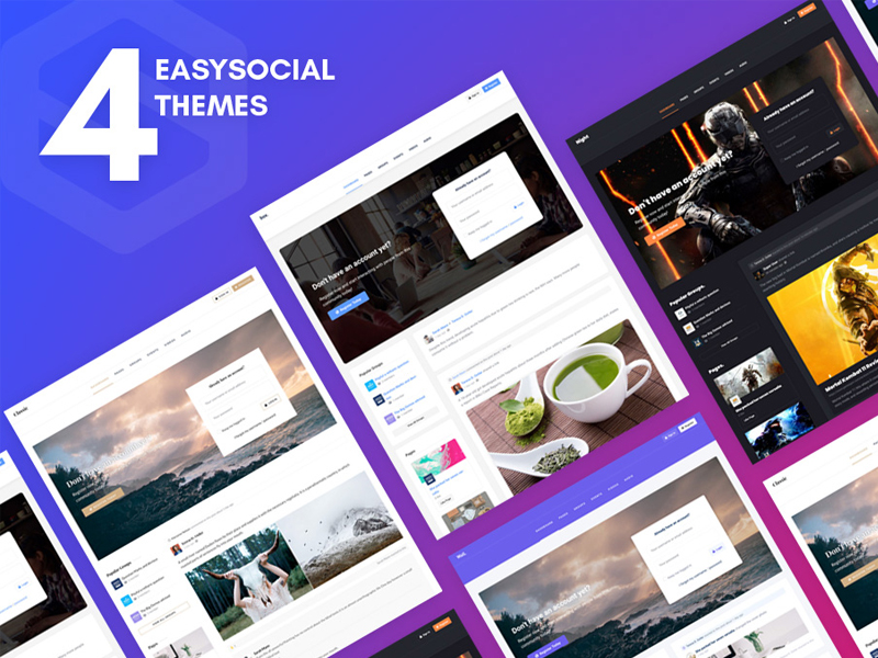 Themes for EasySocial 3.1 by CMSBold