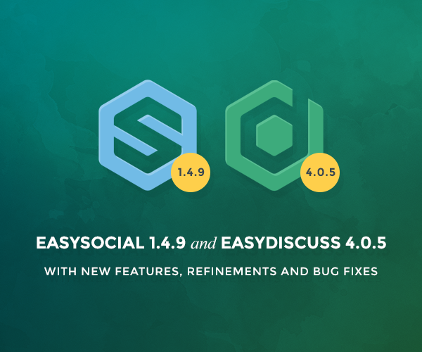 EasyDiscuss 4.0.5 and EasySocial 1.4.9
