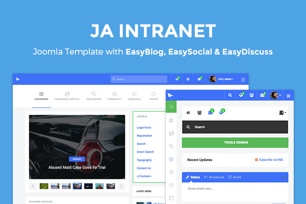 Ja intranet download responsive joomla intranet template.